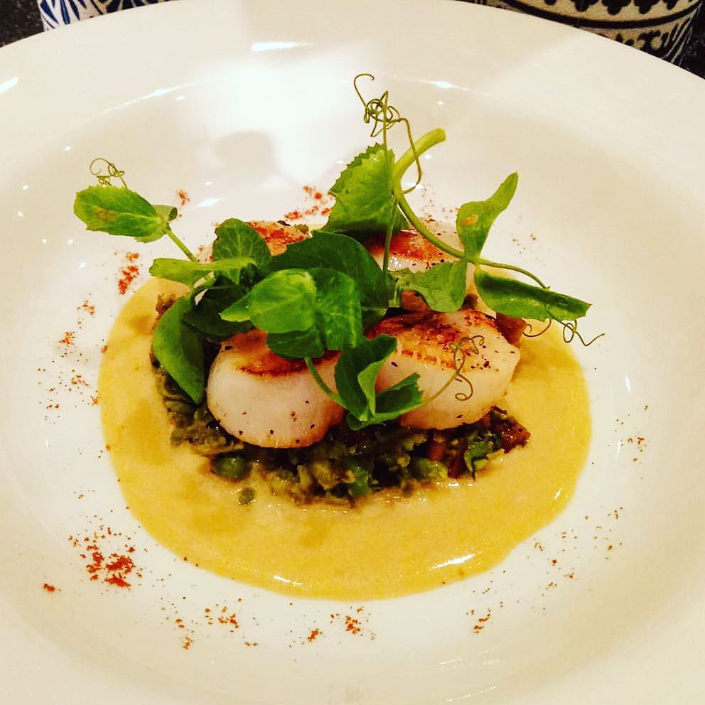 SEARED SCALLOPS #spring #menu #seafood #scallops #french #lunchdate #dinnerdate